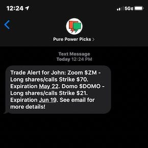 Power stock trades options